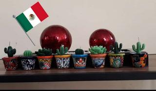 Velas Cactus, Vela Cera Cera De Soya Ecologica, Aromatica