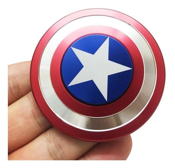 Fidget 3hand Spinner Colecionador Capitão América Frete Grat