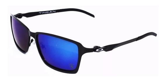 Oculos De Sol Tincan Ferrari Metal Polarizado Azul Escuro!!!