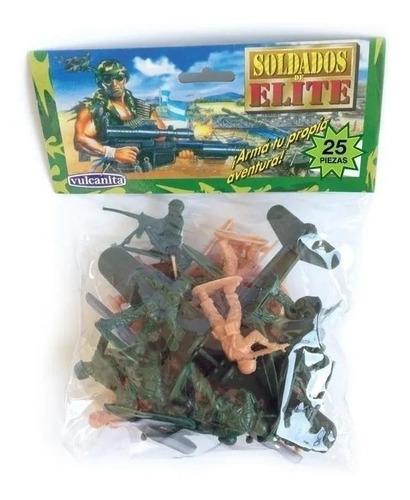 Soldados De Elite  Plasticos X 25 Vulcanita Delicias3