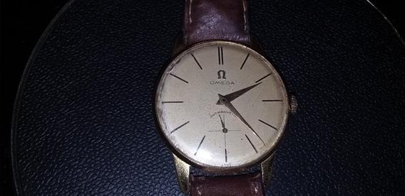 Relógio Omega De Pulso Masculino Plaquê De Ouro A Corda