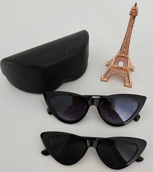2 Óculos Escuro Para Mãe E Filha Combo Triangular Gatinho