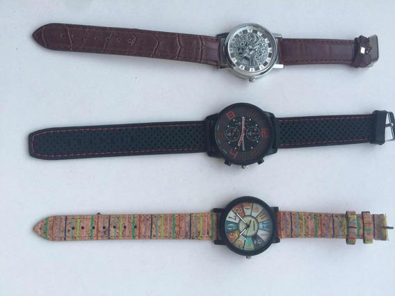 Kit Com Três Relógios. Skeleton, Sanwood E Sonsdo.