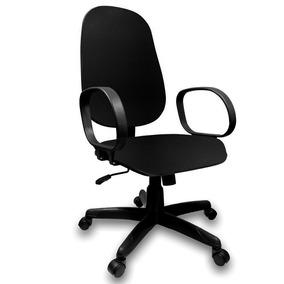 Cadeira Escritório Presidente Com Relax Couro Eco Preto