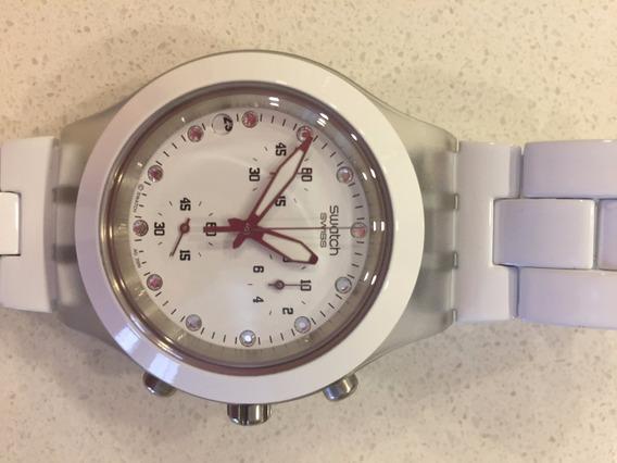 Relógio Suíço Branco - Marca Swatch Modelo Irony (original)