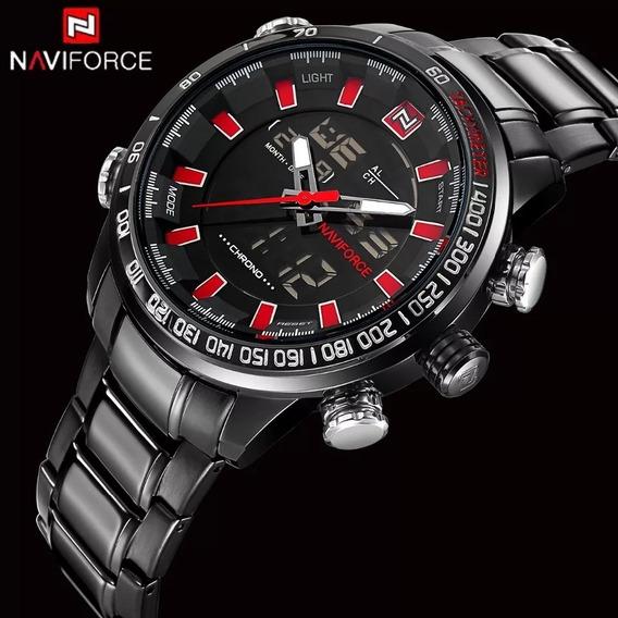 Relógio Masculino Naviforce 9093 Original Preto Oferta