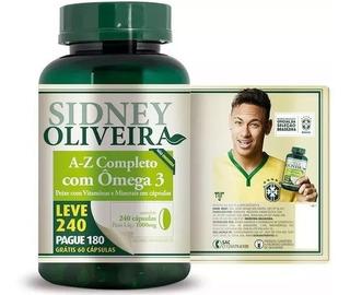 A-z + Ômega 3 1000 Mg 240 Cápsulas Sidney Oliveira