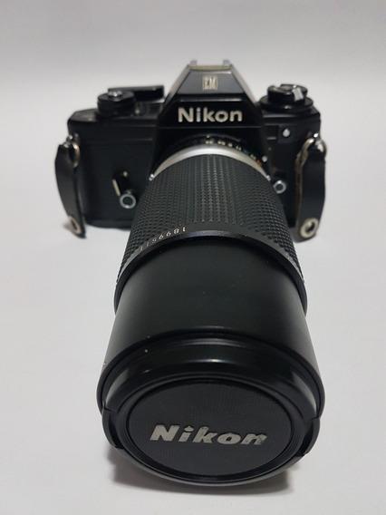 Nikon Em Analógica + Nikon Series E 75-150 3.5 - Promoção