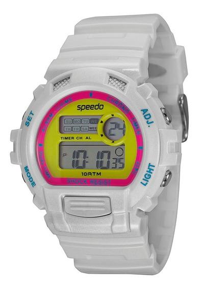 Relógio Feminino Digital Speedo 65083l0evnp5 Branco