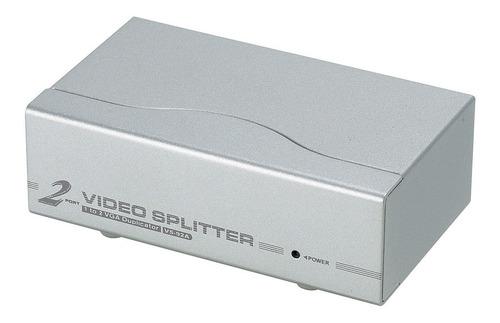Splitter Distribuidor Vga 1 A 2 Salidas Db15 + Amplificador