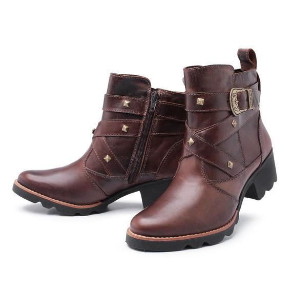 Bota Feminina Couro Cano Curto Pessoni Boots & Shoes