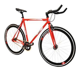 Bicicleta Rodada 700c Fixie Manubrio Triatlón Rojo Cosmic