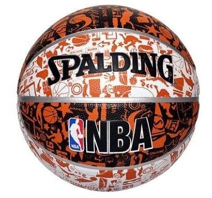 Balon Spalding Nba Graffiti Basquetbol No 7 Naranja