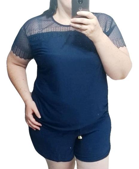 Kit 3 Conjuntos Plus Size Short E Blusa Super Confortável