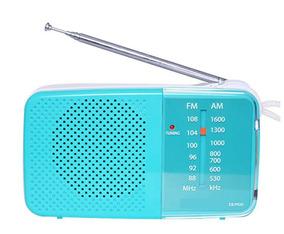 Rádio Fm / Am Portátil Tx-pr20-am/fm Azul Turquesa