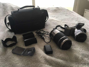 Câmera Semi-profissional Com 2 Lentes E Acessórios