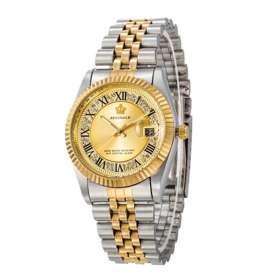 Relógio Feminino Prova De Água Quartzo Luxo Reginald