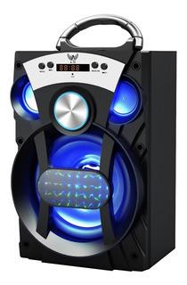 Caixa Som Amplificada Portátil Bluetooth Mp3 Usb Sd Fm 15w