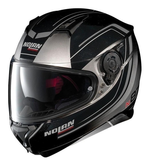Capacete para moto integral Nolan N87 Savoir Faire 59 fade silver tamanho L