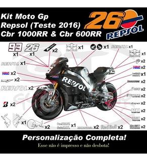 Kit Adesivo Moto Gp Repsol 2016 Teste Cbr 600rr 1000rr