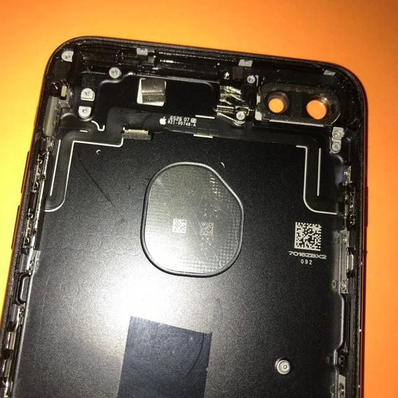 Carcasa Tapa Trasera De iPhone 7 Plus Black Mate Original