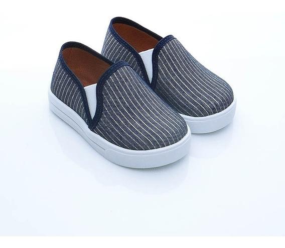 Alpargata Sapatênis Iate Infantil Jeans Confortável