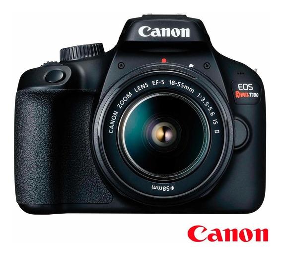Câmera Canon Eos T100 Wifi+18-55 Iii Revenda Autorizada Nf-e