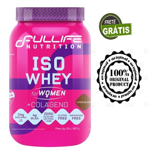 Iso Whey For Women + Colágeno 907g / Morango