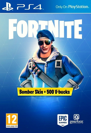Fortnite Bomber Skin +500 V-bucks Ps4 Espanha 12 Digitos