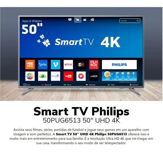 Smart Tv 4k Led 50 Philips Ultra Hd 3 Hdmi 2 Usb Wi-fi Slim