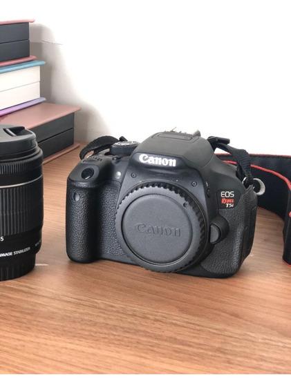 Câmera Canon T5i + Lente 18-55mm