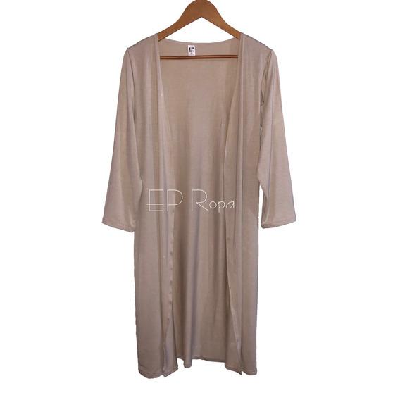 Sobretodo Kimono Largo Ajustado Cardigan Moda Mujer Juvenil