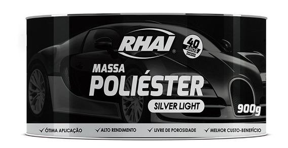Massa Poliéster Silver Light Rhai 900g Com Catalisador