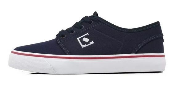 Tênis Qix Skate Combat Azul Marinho Masculino E Feminino Promoção Envio Imediato