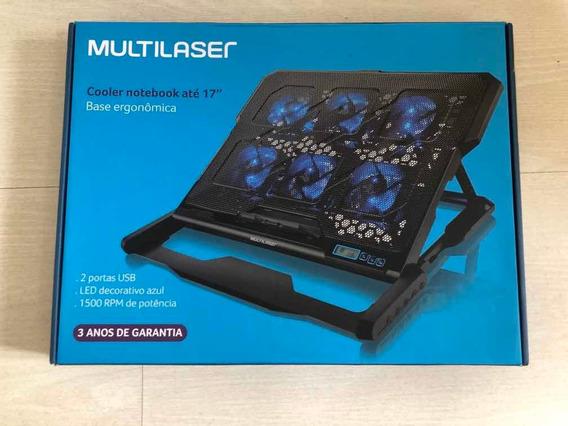 Cooler Multilaser Notebook Pc Games Led Azul