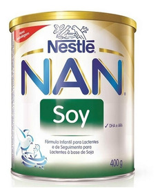 6 Latas Leite Nan Soy Nestlé 800g