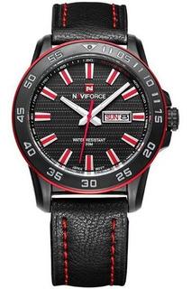Naviforce Nf9040 Reloj Calidad Estilo Cuero Moderno