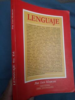 Libros_lenguaje Pre San Marcos