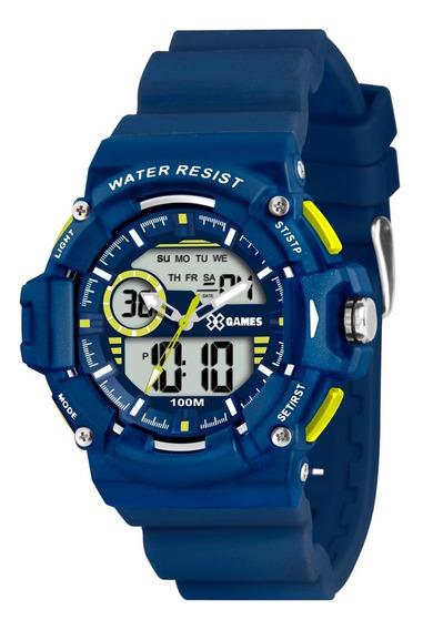 Relógio X-games Masculino Anadigi Xmppa152 Bxdx Azul Oferta