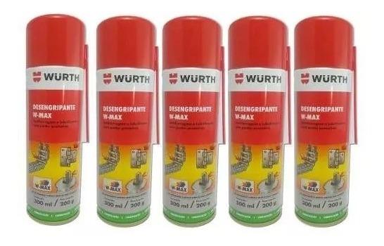 Kit 5 Desengripante W-max Wurth 0890200111