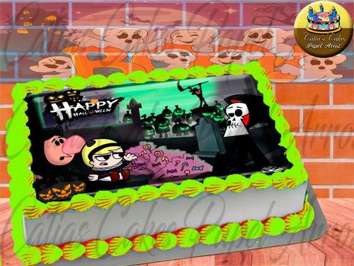 Papel Arroz Comestível P/ Bolo Halloween Cartoon Tooncast M4
