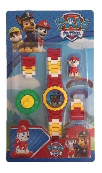 Relogio Lego Infantil Digital Patrulha Canina + Boneco