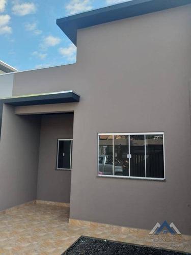 Casa Com 2 Dormitórios À Venda, 56 M² Por R$ 180.000,00 - Jardim Santo André - Londrina/pr - Ca1503