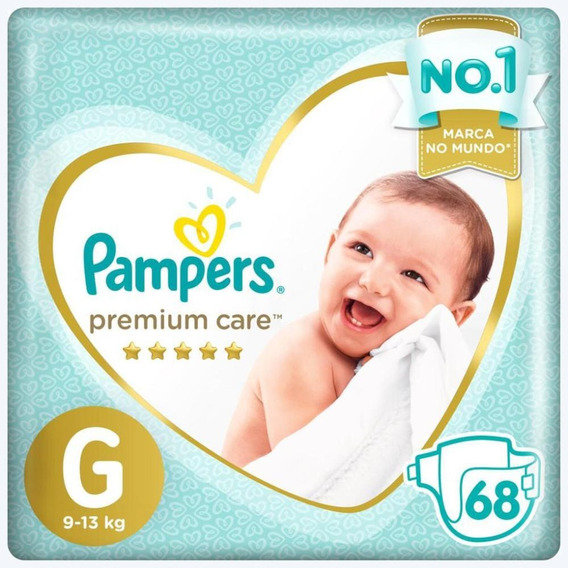Fralda Pampers Premium Care Jumbo Tamanho G 68 Unidades