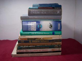 Remato Lote De 16 Libros De Medicina Y Anatomía Humana