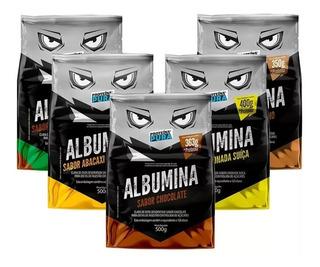 Combo 5x Albumina 500g (cada) - Proteina Pura - 7 Sabores