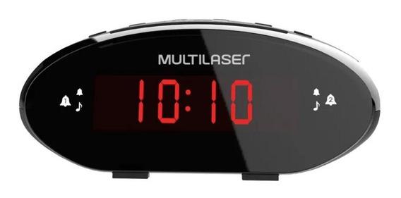 Rádio Relógio Digital 3w Rms Fm Multilaser