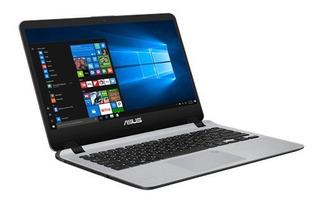 Laptop Asus 15.6 Hd Amd A6-9225 4gb 500gb W10h Plata /v