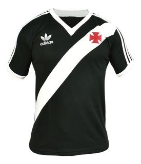 Camisa Retrô Vasco Da Gama 1984 Blusa Preta