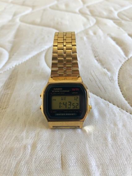 Relógio Casio Dourado A159wgea Original Usado Otimo Estado